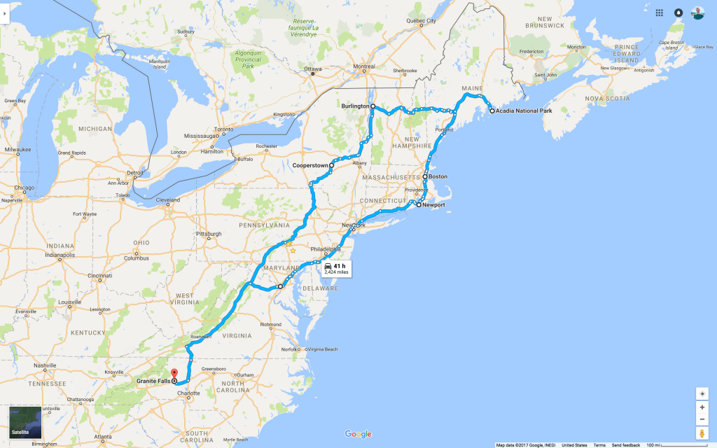 Road map - Church Trip 2017
