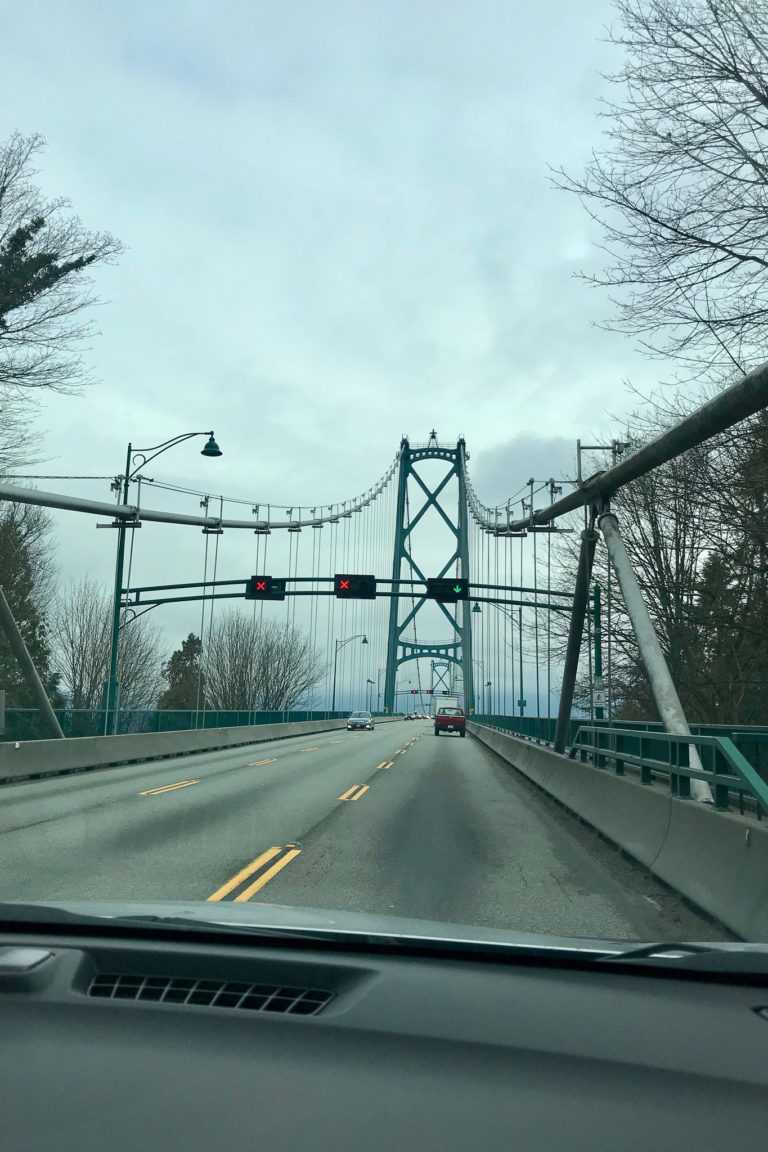 Crossing the bridge out of Vancouver