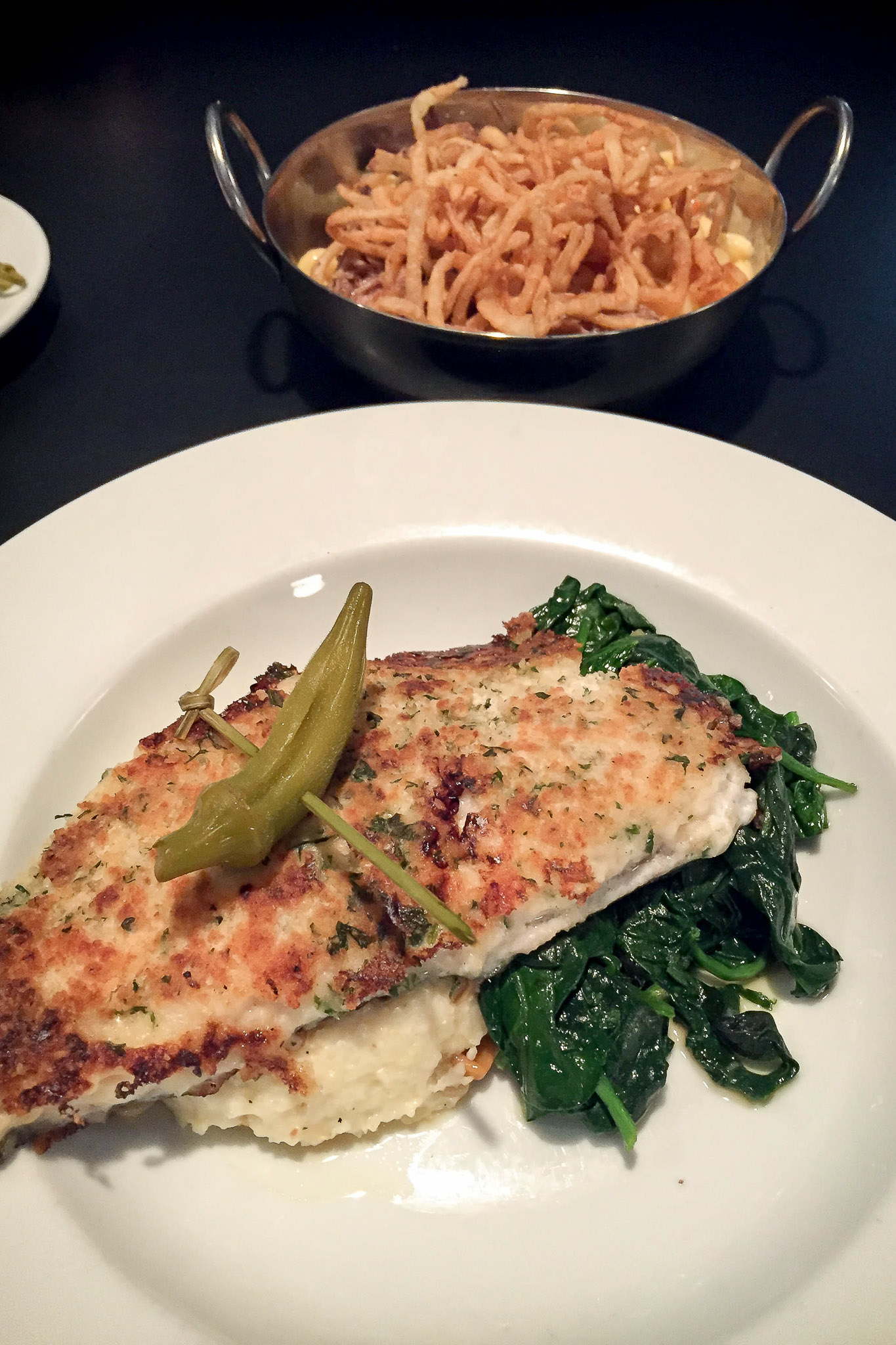 Trout // Mac & cheese (Sorry there's not a closer picture of the mac & cheese…it disappeared)
