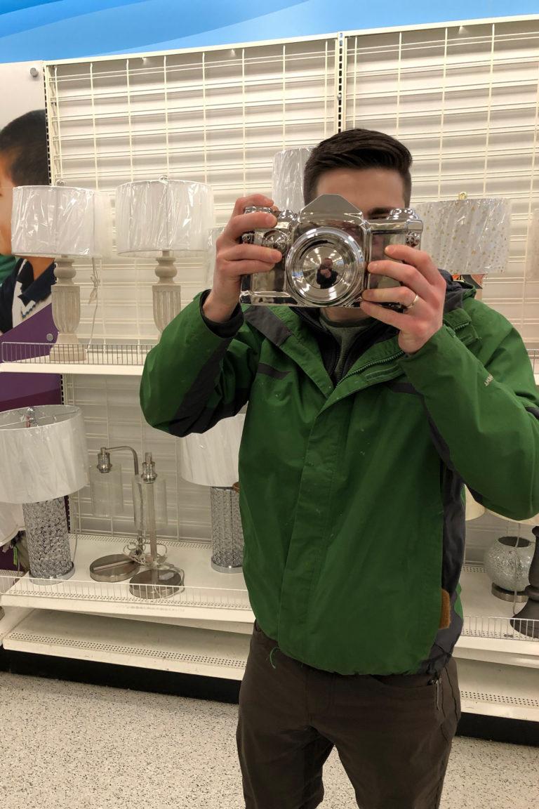 CJ found a new camera at Ross