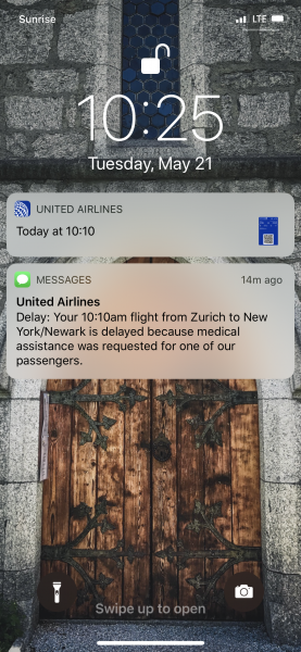 United flight delay