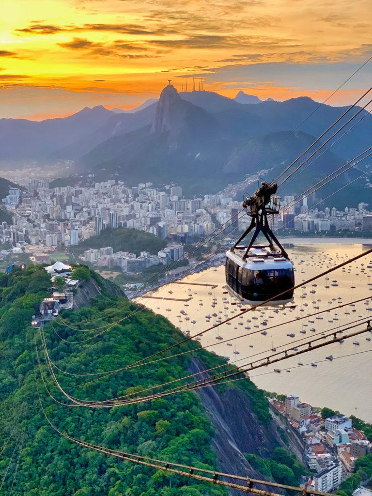 Pão de Açúcar - cable car up Sugarloaf Mountain in Rio de Janeiro