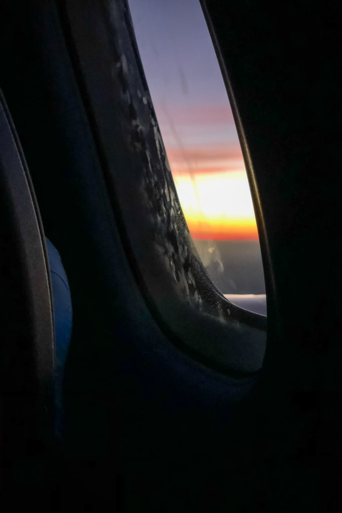 Out the airplane window