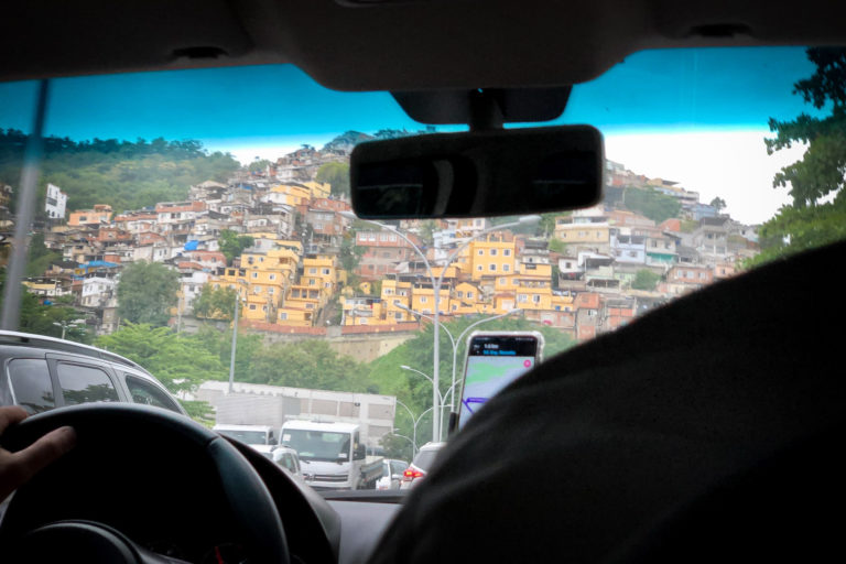 One of many favelas in the city
