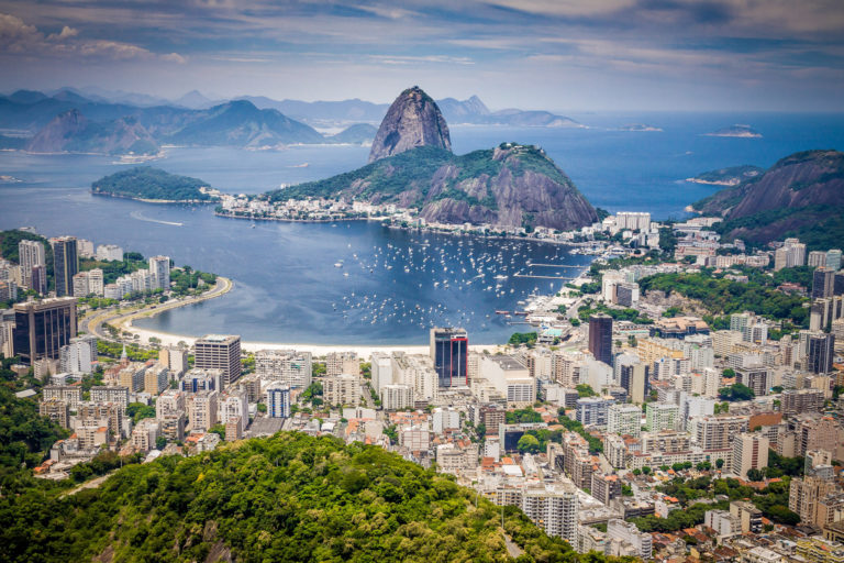 Photo of the bay and Sugarloaf Mountain in Rio de Janeiro