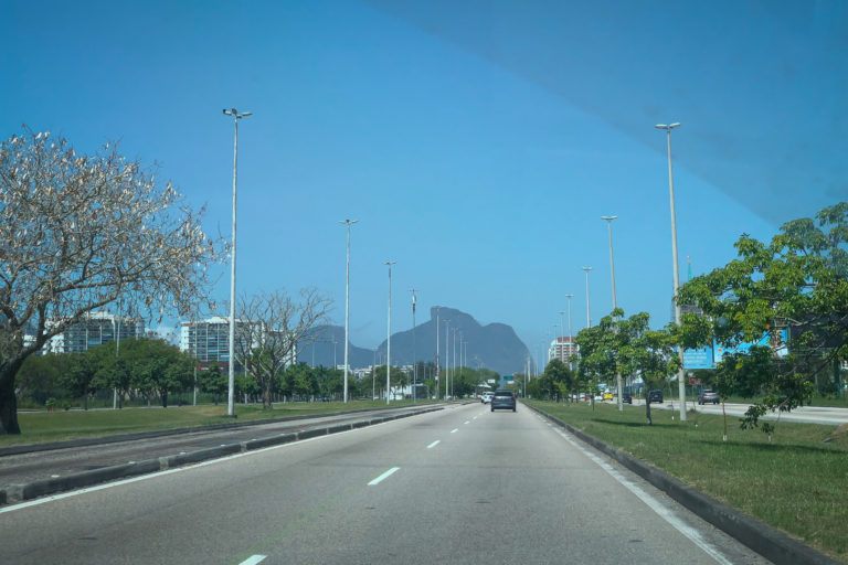 Driving back to the Rio city center