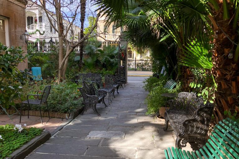 Café Amelie courtyard